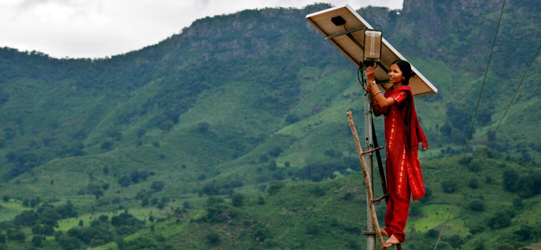 Dezentrale Energieversorung mit Solarpanelen
